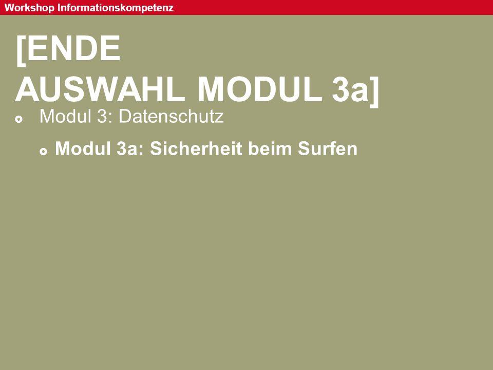 [ENDE AUSWAHL MODUL 3a] Modul 3: Datenschutz